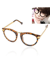 Fishing With Leopard Frame Fashion Arrows Design Resin Fashon Glasses