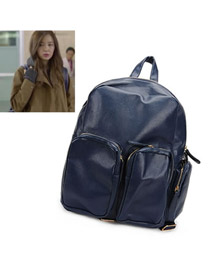 Kennedy Blue Multi Pocket Design PU Backpack