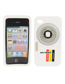 Extra White Camera Design Silicon Iphone 4 4s