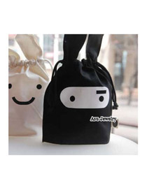 Business Black Ninja Rabbit Cotton Home Storage Bags