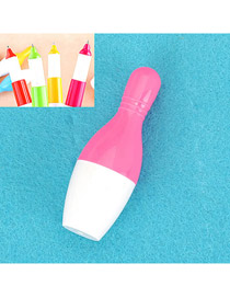 Recycled Pink Flexible Bowling Shape Design