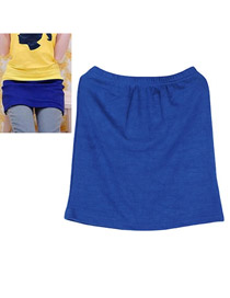 Plussize Dark Blue Fit Sile A Shape Skirt Cotton Dress-Skirt