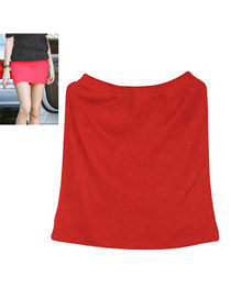 Headrest Red Fit Sile A Shape Skirt Cotton Dress-Skirt