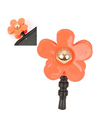 Mini orange Red Flower Design Alloy Mobile phone products
