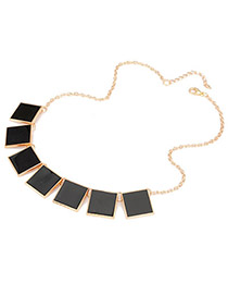 Cool Black Geometric Shape Alloy Korean Necklaces