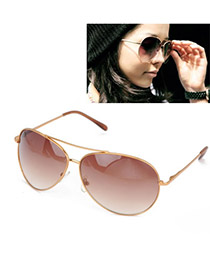 Maturnity With Gold Color Frame Fashion Frog Lens Design Plastic Women Sunglasses