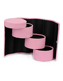 Pentacle Pink Cylinder Shape  Design PU Jewelry box