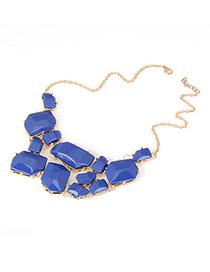 Monogram Blue Candy Color Pendant Acrylic Korean Necklaces