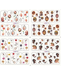Trendy Picture color Personality Design Paper Nails