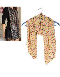 Formal Apricot Multicolor Skull Pattern Chiffon Fashion Scarves