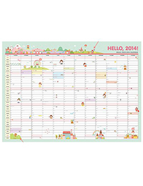 Synthetic Random Color 2014 Schedule Design Paper Household goods