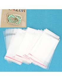 Adjustable Transparent Color Plastic Package (100 pcs)