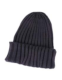 Monogramme Navy Blue Simple Candy Color Design Knitting Wool Knitting Wool Hats