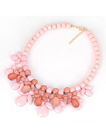 Bendable Pink Tassels Cloth Accessory Style Alloy Fashion Necklaces