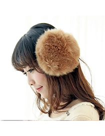 Cubic Camel Winter Warmth Design Imitate Rabbit Fur Fashion earmuffs