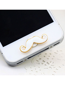 Punk White Mustache Iphone Style