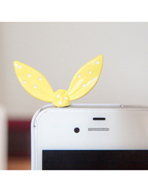 Catholic yellow Rabbit ears design alloy Mobile phone products