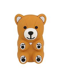 Varsity Brown Bear Shape Design Silicon Iphone 4 4s