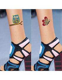 Modest Fleshcolor Owl Butterfly Pattern Yarn Fashion Stockings