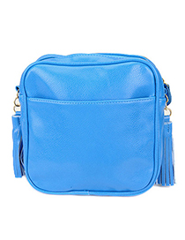 Facial Blue Fluorescence Tassels Design Pu Messenger bags