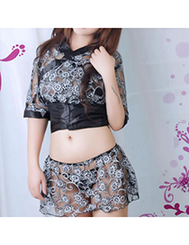 Wool Black Cosplay Flower Lace Lace Role Playing Reviews