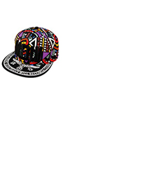 Sanctuary Black Embroidery Motv Hip Hop Flat Brim Design