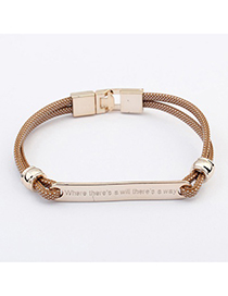 Authentic Coffee Metal Decorated Simple Design CCB Korean Fashion Bracelet