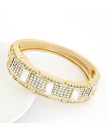 Micro Gold Color Diamond Decorated Luxury Design Alloy Fashion Bangles