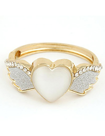 Energie Silver Color Angel Wings Heart Shape Design Alloy Fashion Bangles
