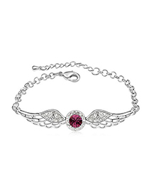 Uniform Purple Angel Wing Shape Design Austrian Crystal Crystal Bracelets