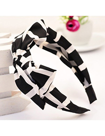 Roll black bowknot decorated square design fabric Hair band hair hoop