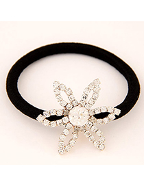 Varsity Gold Color Flower Decorated Simple Design Alloy Hair band hair hoop