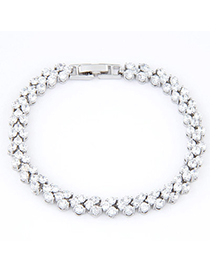 Pregnancy White Diamond Decorated Round Shape Design Zircon Crystal Bracelets