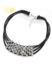 Chiropract Silver Color Multilayer Simple Design Alloy Korean Necklaces
