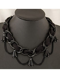 Flamenco Black Chains Decorated Simple Design