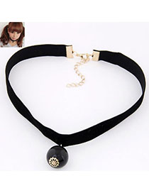 Detachable Black Pearl Decorated Simple Design