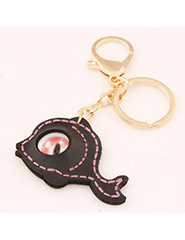 Best Black Eye Decorated Fish Shape Design Alloy Fashion Keychain
