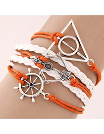 Waist White Triangle Shape Decorated Multilayer Design
