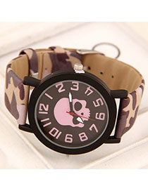 Vintage Purple Skull Pattern Simple Design Alloy Ladies Watches