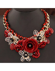 Retro Gold Color Pure Color Hollow Out Flower Design  Alloy Wide belts