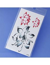 Best Red Flower Pattern Simple Design Tape Tattoos Body Art