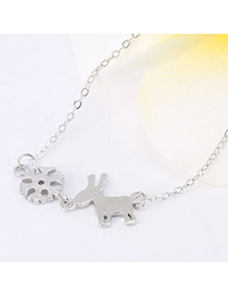 Joker Silver Color Sheep Shape Decorated Simple Design Cuprum Chains