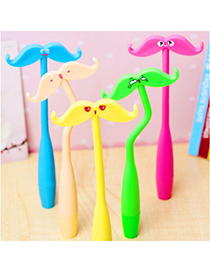 Monogramme Color Will Be Random Cartoon Beard Can Bend Design Silicone Writing Pens
