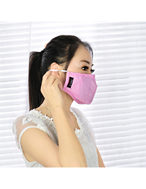 Shade pink pure color simple design cotton Face Mask