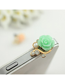 Musical green flower decorated simple design alloy Mobile phone products
