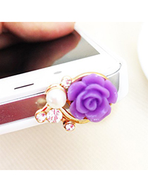 Fashion Plum Red Pure Color Design Portable Mini Led Fill Light Artifact (iphone5/6/6s/plus)