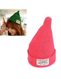 Attractive watermelon red letter STANDARD decorated simple design acrylic fibers Knitting Wool Hats
