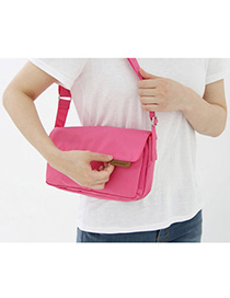 Plus Size Plum Red Pure Color Simple Design Nylon Messenger bags
