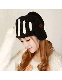 Awesome Black Multifunctional Little Angle Design Wool Knitting Wool Hats