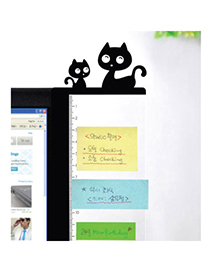Mustard Black Cat Shape Simple Design(right) Acrylic Plate Other Creative Stationery